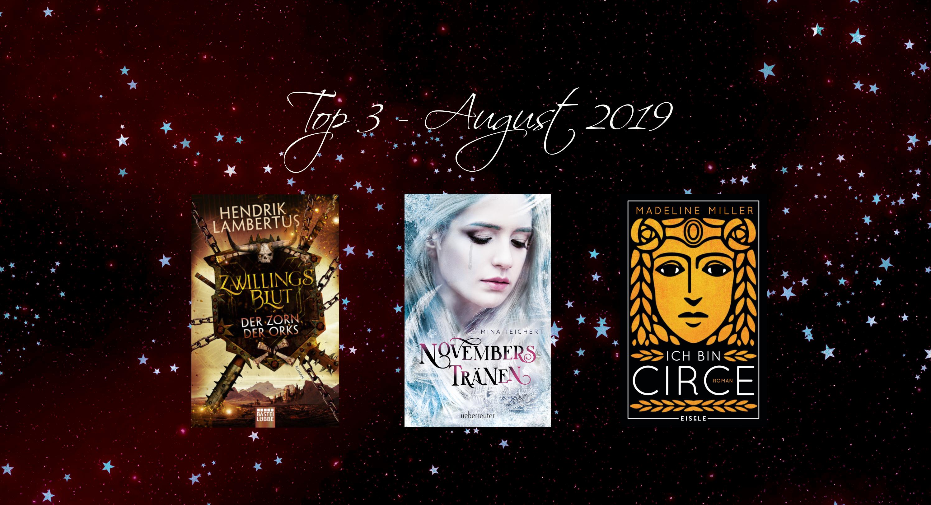 Top3 Neuerscheinungen August 2019