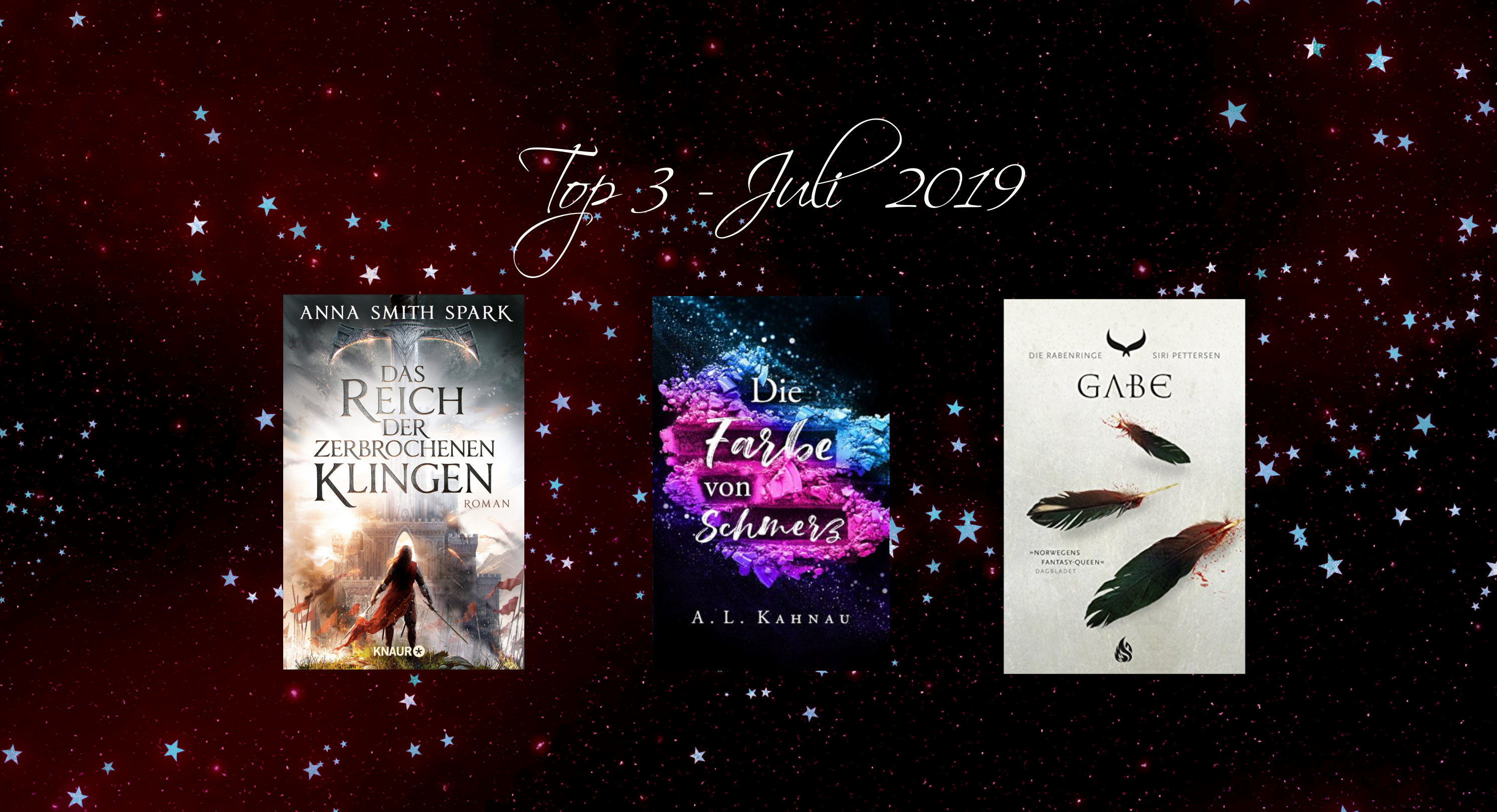 Top3 Neuerscheinungen Juli 2019